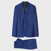 Paul Smith Men's Tailored-Fit Indigo Wool-Mohair 'A Suit To Travel In'