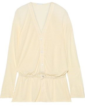 Eberjey Love Letters Striped Modal-blend Jersey Playsuit
