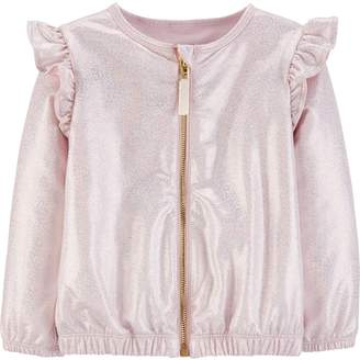 Carter's Baby Girl Sparkly Zip-Up Bomber Jacket