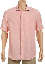 Tommy Bahama Sand Linen Check Short Sleeve Button Down Shirt (Men's)