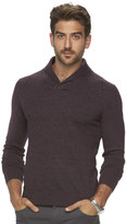 Marc Anthony Big & Tall Slim-Fit Marled Cashmere-Blend Merino Shawl Sweater