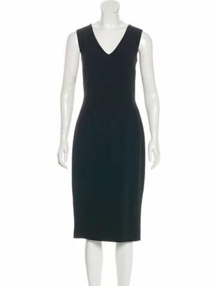 Dolce & Gabbana Sleeveless Midi Dress w/ Tags Black