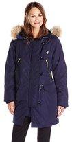Love Moschino Women's Winter Coat with Fur Trim