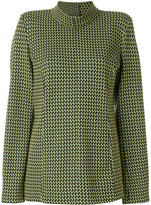 Marni micro checked knitted top