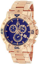 Jivago Titan Mens Blue Dial Rose-Tone Stainless Steel Bracelet Watch