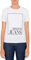 Armani Jeans Aj Regtangle Logo Crew Neck Tee