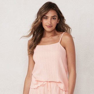 Lauren Conrad Women's Pointelle Cami Pajama Tank Top