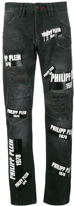Philipp Plein Milano cut jeans