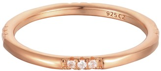 Seol + Gold 18Ct Rose Gold Vermeil White Cz Eternity Stacking Ring