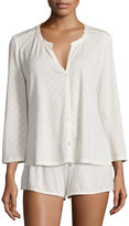 Eberjey Earl Diamond Knit Sleep Top, Off White