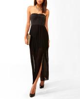 Forever 21 Pleated Slit Tube Dress