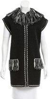 Chanel Fringe-Trimmed Knit Vest w/ Tags