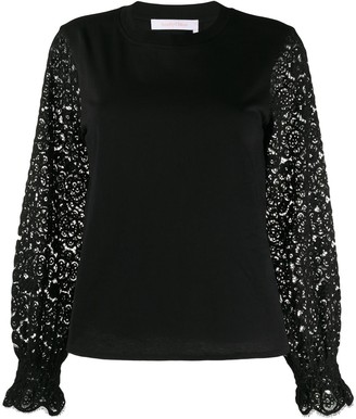 See by Chloe Lace-Panelled Sweatshirt