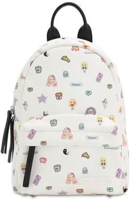 Chiara Ferragni Stickers Small Nylon Backpack