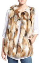 Women's Love Token Multicolor Faux Fur Vest
