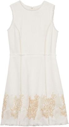 Vince Camuto Tweed Fringe-trim Dress