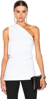 Cushnie et Ochs Stretch Cady One Shoulder Top