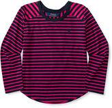 Ralph Lauren Striped Jersey Long-Sleeve Tee