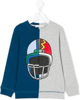 Stella McCartney color block printed sweatshirt