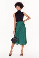 Nasty Gal Womens Spot-light Worth Bias Cut Midi Skirt - green - 10