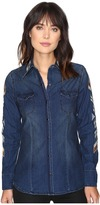 Stetson Chambray Western Fitted Blouse