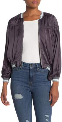 Yfb By Young Fabulous & Broke Cici Satin Bomber Jacket