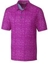Cutter & Buck Men's Moisture Wicking Drytec UPF 50+ Print Jersey Polo Shirt