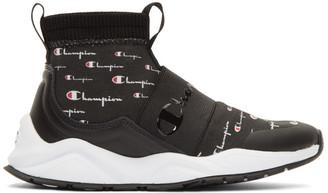 Champion Reverse Weave Black Rally Script Sneakers