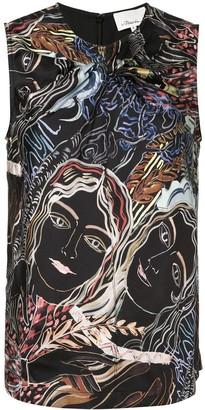 3.1 Phillip Lim Painted Ladies print top