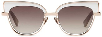 Oliver Goldsmith Sunglasses The 2000S Polished Rose Gold & Black