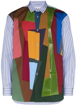 Comme des Garçons Shirt Colour-Block Striped Shirt