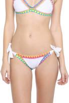 Platinum White Crochet Full Tie Side Bikini Bottoms