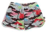 Terez Girl's Jane Camo Perforated Shorts