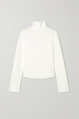 Helmut Lang Cady Turtleneck Top - Ivory