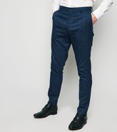 New Look Grid Check Skinny Suit Trousers