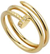 Cartier Yellow Gold and Diamond Double Juste un Clou Ring