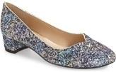 J. Renee 'Bambalina' Block Heel Glitter Pump (Women)