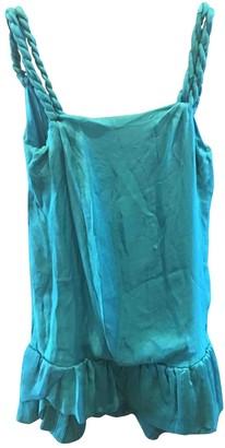 Jay Ahr Turquoise Silk Dress for Women