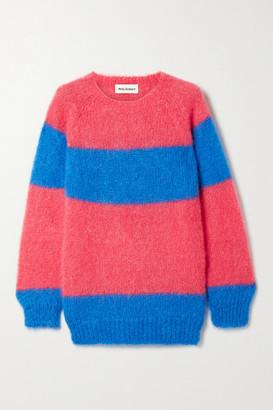 Molly Goddard Noah Striped Mohair-blend Sweater - Fuchsia