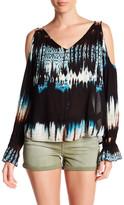 Jessica Simpson Lexa Cold Shoulder Stripe Blouse