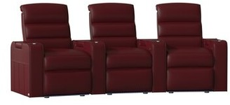 Magnum Red Barrel Studio HR Series Curved Home Theater Recliner (Row of 3) Red Barrel Studio Body Fabric: Luxe Berry