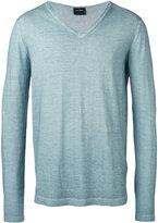 Jil Sander V-neck jumper - men - Cotton - 48