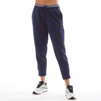 New Balance Womens Relentless Poly Fleece Cuffed Pants Pigment Navy