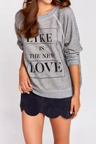 Wildfox Couture Like Button Sweater