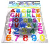 ABC's & 123's Gel Clings - 36 Piece Window Gel Clings Toy - Numbers and Alphabet Letters - Great for Travel on Planes or Cars or at Home