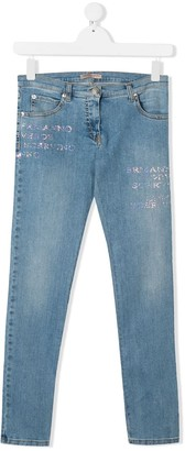 Ermanno Scervino TEEN low-rise skinny jeans