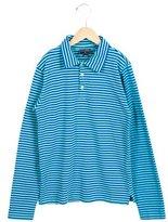 Oscar de la Renta Boys' Striped Long Sleeve Polo