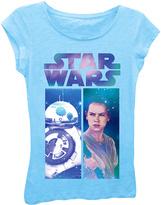 Freeze Cancun Blue Star Wars: The Force Awakens Rey & BB-8 Tee - Girls