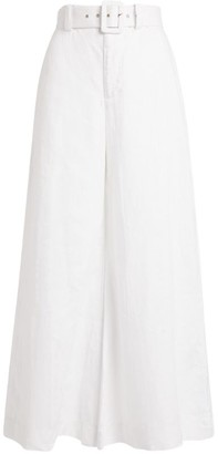 Faithfull The Brand Rose Wide-Leg Belted Trousers