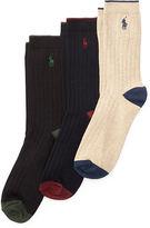 Ralph Lauren Ribbed Crew Sock 3-Pack